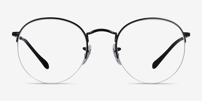 Ray-Ban RB3947V Black Metal Eyeglass Frames from EyeBuyDirect, Front View