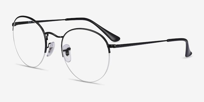 Ray-Ban RB3947V Black Metal Eyeglass Frames from EyeBuyDirect, Angle View