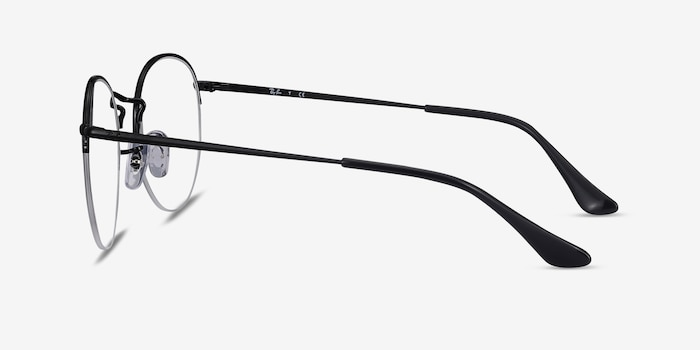 Ray-Ban RB3947V Black Metal Eyeglass Frames from EyeBuyDirect, Side View