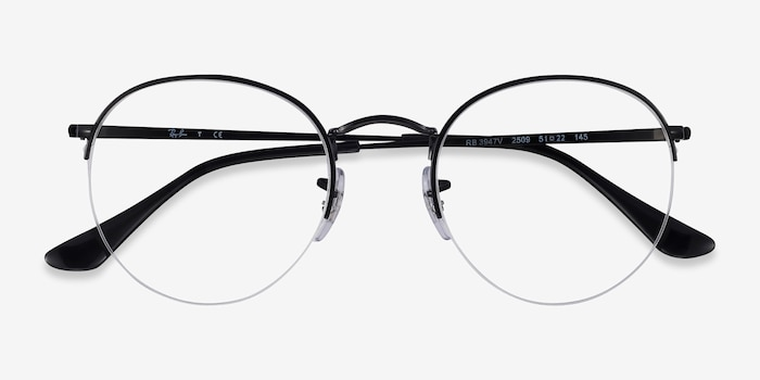 Ray-Ban RB3947V Black Metal Eyeglass Frames from EyeBuyDirect, Closed View
