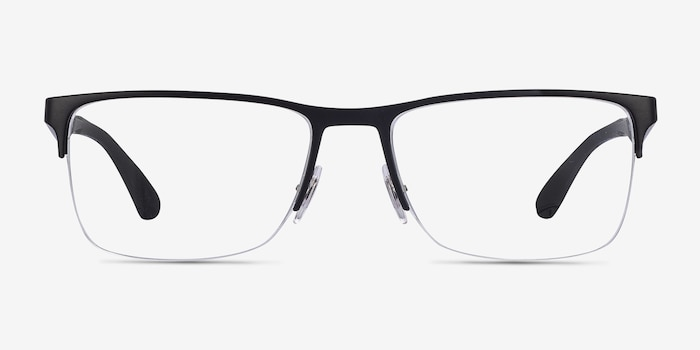 Ray-Ban RB6335 Black Metal Eyeglass Frames from EyeBuyDirect, Front View
