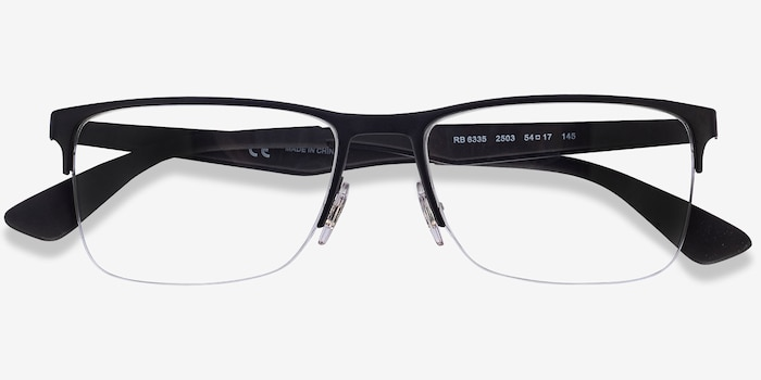Ray-Ban RB6335 Black Metal Eyeglass Frames from EyeBuyDirect, Closed View