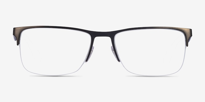 Ray-Ban RB6335 Gunmetal Metal Eyeglass Frames from EyeBuyDirect, Front View