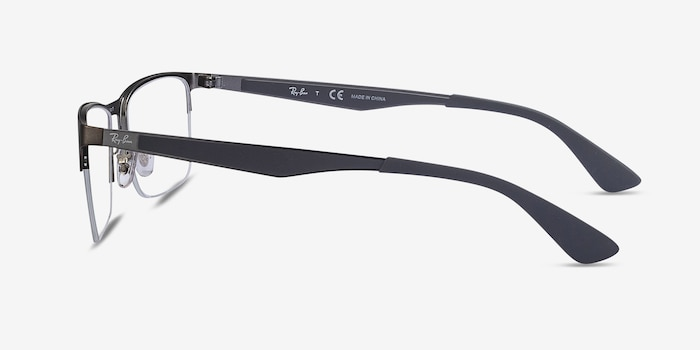 Ray-Ban RB6335 Gunmetal Metal Eyeglass Frames from EyeBuyDirect, Side View