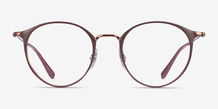 Ray-Ban RB6378 Light Brown Metal Eyeglass Frames from EyeBuyDirect, Front View