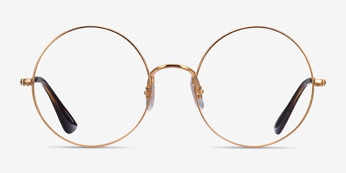 Ray-Ban RB6392 Gold Metal Eyeglass Frames from EyeBuyDirect, Front View