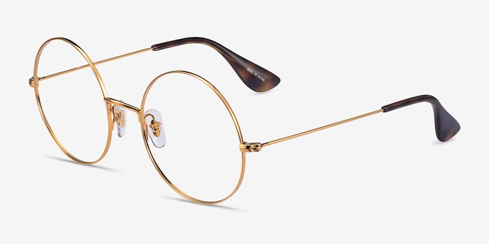 Ray-Ban RB6392 Gold Metal Eyeglass Frames from EyeBuyDirect, Angle View