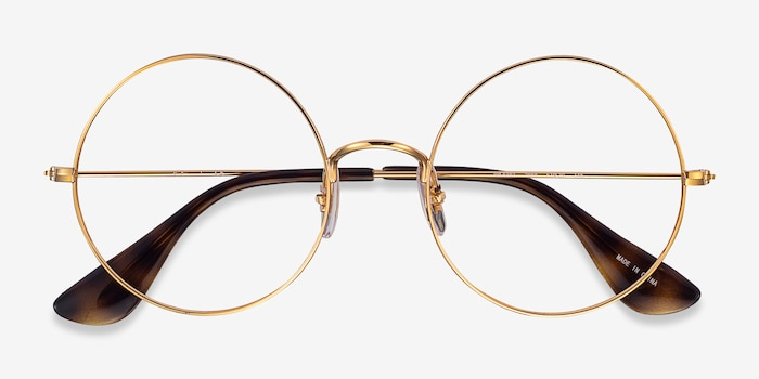 Ray-Ban RB6392 Gold Metal Eyeglass Frames from EyeBuyDirect, Closed View