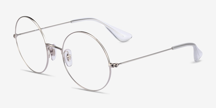 Ray-Ban RB6392 Silver Metal Eyeglass Frames from EyeBuyDirect, Angle View