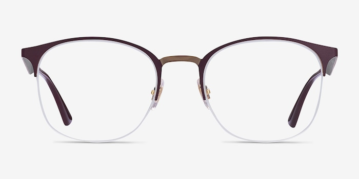 Ray-Ban RB6422 Bordeaux Gold Metal Eyeglass Frames from EyeBuyDirect, Front View
