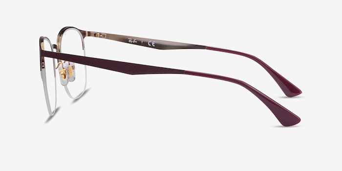 Ray-Ban RB6422 Bordeaux Gold Metal Eyeglass Frames from EyeBuyDirect, Side View