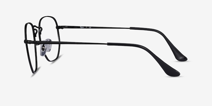 Ray-Ban RB6448 Black Metal Eyeglass Frames from EyeBuyDirect, Side View