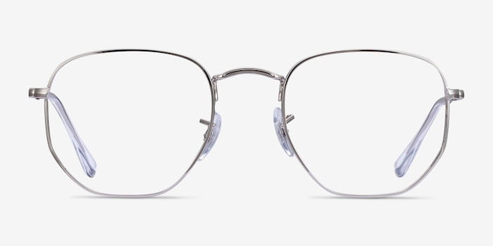 Ray-Ban RB6448 Silver Metal Eyeglass Frames from EyeBuyDirect, Front View