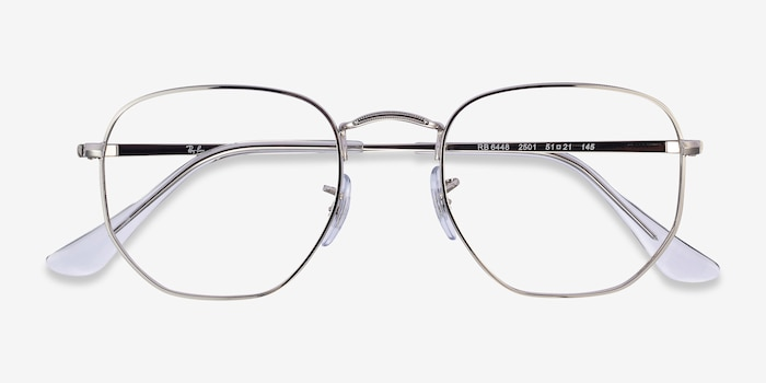 Ray-Ban RB6448 Silver Metal Eyeglass Frames from EyeBuyDirect, Closed View