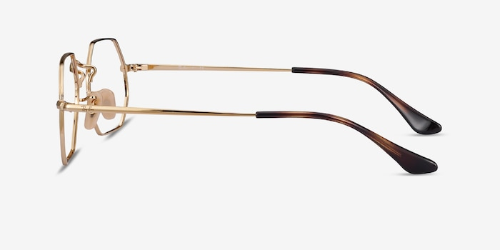 Ray-Ban RB6456 Gold Metal Eyeglass Frames from EyeBuyDirect, Side View