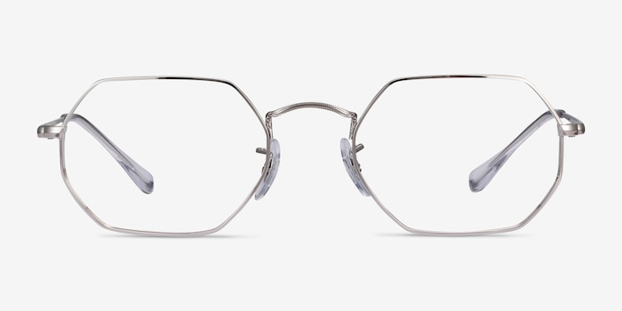 Ray-Ban RB6456 Silver Metal Eyeglass Frames from EyeBuyDirect, Front View