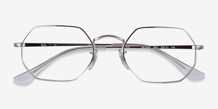 Ray-Ban RB6456 Silver Metal Eyeglass Frames from EyeBuyDirect, Closed View