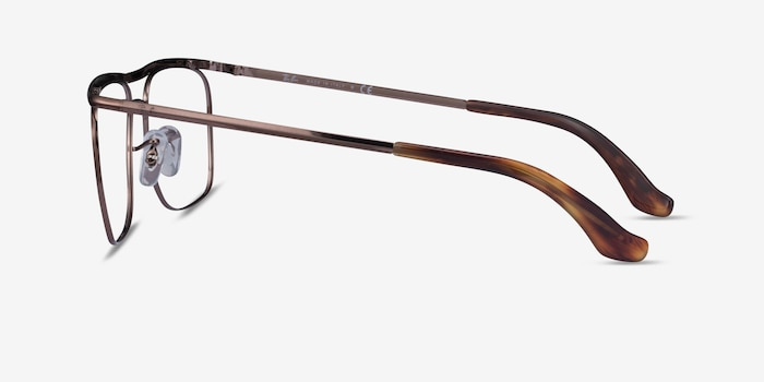 Ray-Ban RB6519 Brown Metal Eyeglass Frames from EyeBuyDirect, Side View