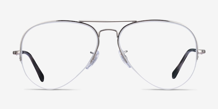 Ray-Ban RB6589 Silver Metal Eyeglass Frames from EyeBuyDirect, Front View