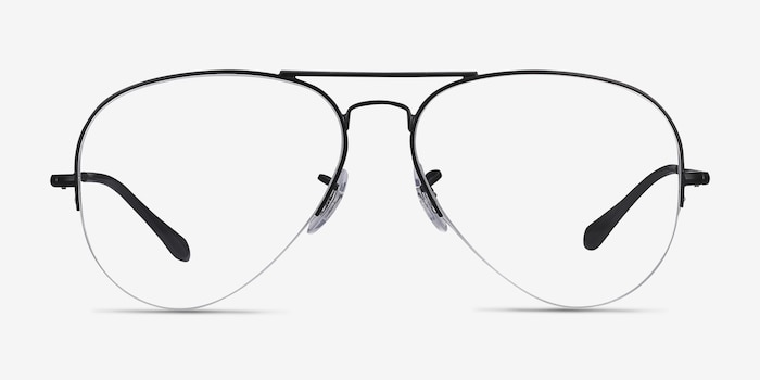 Ray-Ban RB6589 Black Metal Eyeglass Frames from EyeBuyDirect, Front View