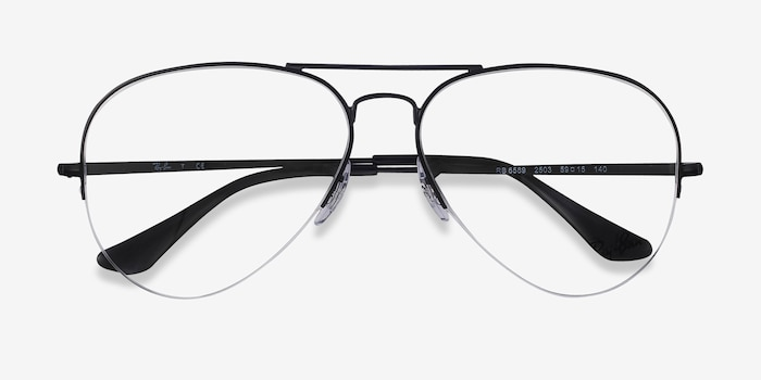 Ray-Ban RB6589 Black Metal Eyeglass Frames from EyeBuyDirect, Closed View