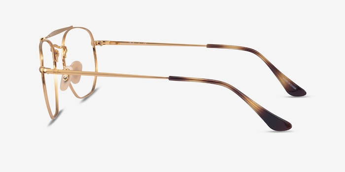 Ray-Ban RB3648V Gold Metal Eyeglass Frames from EyeBuyDirect, Side View