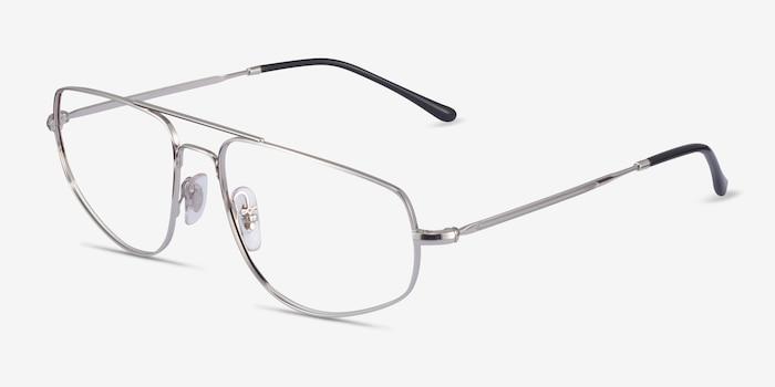 Ray-Ban RB6455 Silver Metal Eyeglass Frames from EyeBuyDirect, Angle View