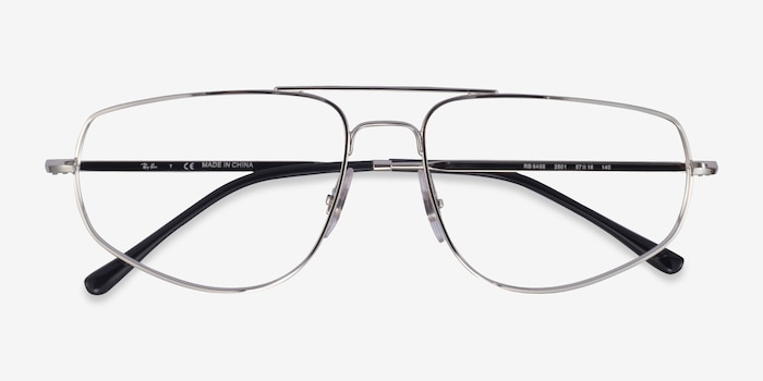 Ray-Ban RB6455 Silver Metal Eyeglass Frames from EyeBuyDirect, Closed View