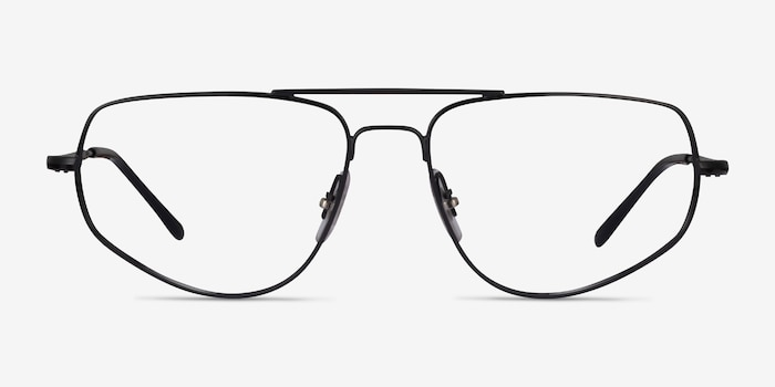 Ray-Ban RB6455 Black Metal Eyeglass Frames from EyeBuyDirect, Front View