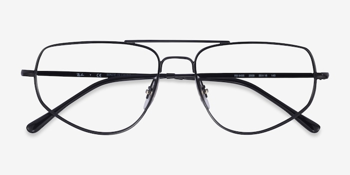 Ray-Ban RB6455 Black Metal Eyeglass Frames from EyeBuyDirect, Closed View