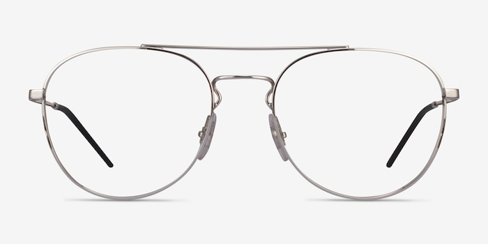 Ray-Ban RB6414 Silver Metal Eyeglass Frames from EyeBuyDirect, Front View