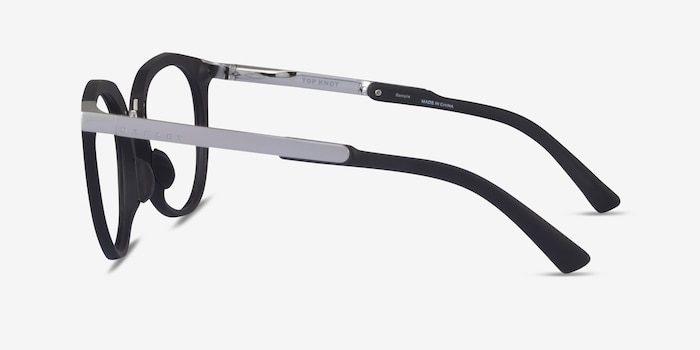 Oakley Top Knot Red & Silver Acetate Eyeglass Frames from EyeBuyDirect, Side View