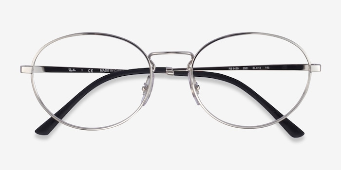 Ray-Ban RB6439 Silver Metal Eyeglass Frames from EyeBuyDirect, Closed View