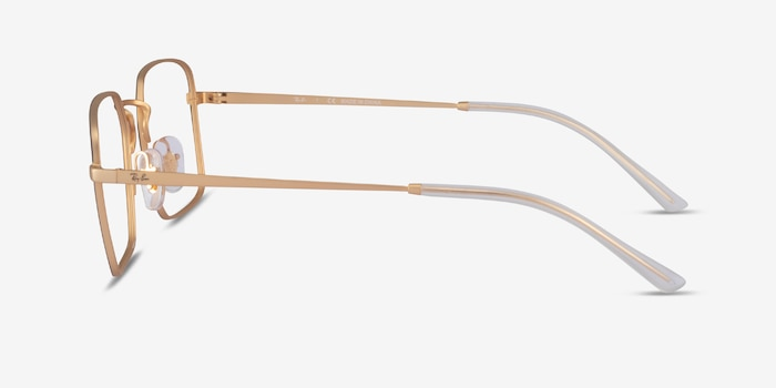 Ray-Ban RB6440 Black & Gold Metal Eyeglass Frames from EyeBuyDirect, Side View