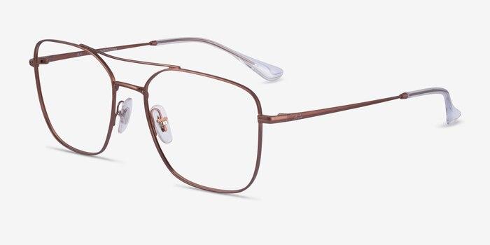 Ray-Ban RB6450 Brown Metal Eyeglass Frames from EyeBuyDirect, Angle View