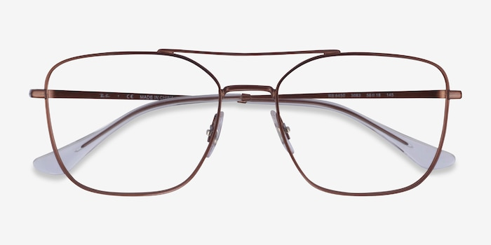 Ray-Ban RB6450 Brown Metal Eyeglass Frames from EyeBuyDirect, Closed View