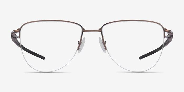 Oakley Plier Bronze Titanium Eyeglass Frames from EyeBuyDirect, Front View