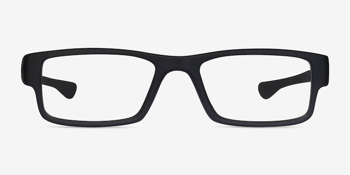 Oakley Airdrop Satin Black Plastic Eyeglass Frames from EyeBuyDirect, Front View