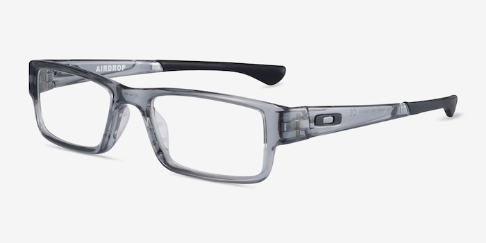 Oakley Airdrop Gray Shadow Plastic Eyeglass Frames from EyeBuyDirect, Angle View