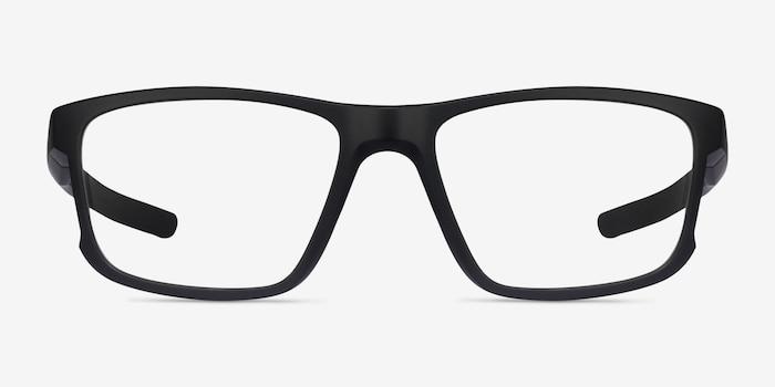 Oakley Hyperlink Satin Black Plastic Eyeglass Frames from EyeBuyDirect, Front View