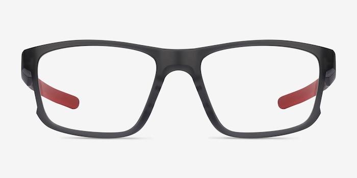 Oakley Hyperlink Satin Gray Smoke Plastic Eyeglass Frames from EyeBuyDirect, Front View