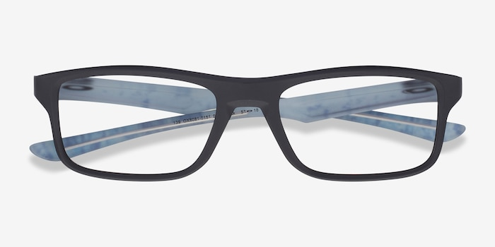 Oakley Plank 2.0 Satin Black Plastic Eyeglass Frames from EyeBuyDirect, Closed View