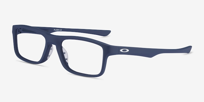 Oakley Plank 2.0 Universal Blue Plastic Eyeglass Frames from EyeBuyDirect, Angle View