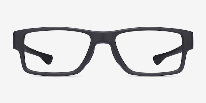 Oakley Airdrop Mnp Satin Black Plastic Eyeglass Frames from EyeBuyDirect, Front View