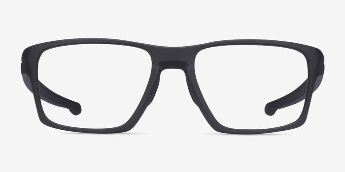 Oakley Litebeam Satin Black Plastic Eyeglass Frames from EyeBuyDirect, Front View