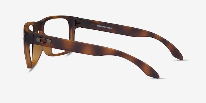 Oakley Holbrook Rx Matte Brown Tortoise Plastic Eyeglass Frames from EyeBuyDirect, Side View