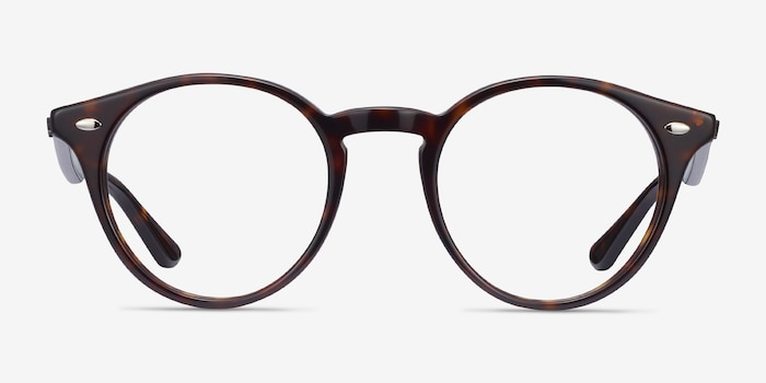 Ray-Ban RB2180V Tortoise Acetate Eyeglass Frames from EyeBuyDirect, Front View