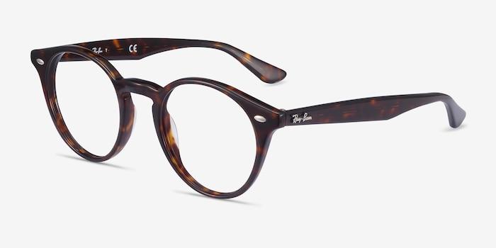 Ray-Ban RB2180V Tortoise Acetate Eyeglass Frames from EyeBuyDirect, Angle View