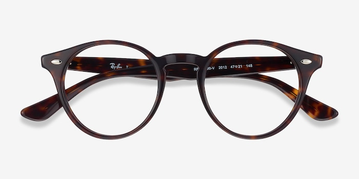 Ray-Ban RB2180V Tortoise Acetate Eyeglass Frames from EyeBuyDirect, Closed View