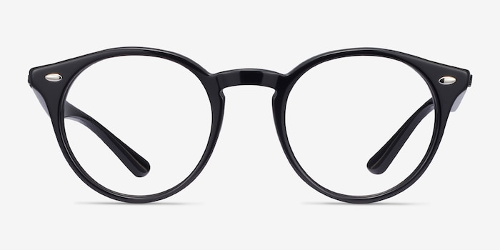 Ray-Ban RB2180V Black Acetate Eyeglass Frames from EyeBuyDirect, Front View